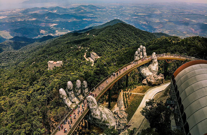 The Golden Bridge on Ba Na Hills
